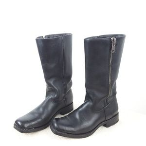 Frye Heath Outside Zip Combat mid - calf boots